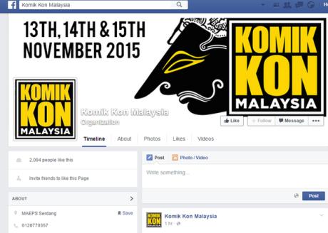 komik kon malaysia pakai logo wayang