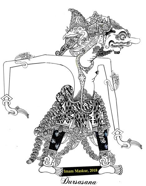 Gambar Wayang Arjuna Mudah Digambar Ki Dalang Rohmad Hadiwijoyo