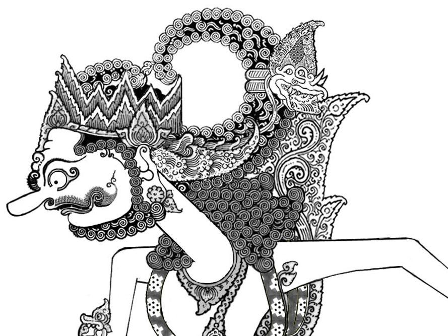 Wayang Kreasi Digital 22 Wayang Mirip Gatotkaca